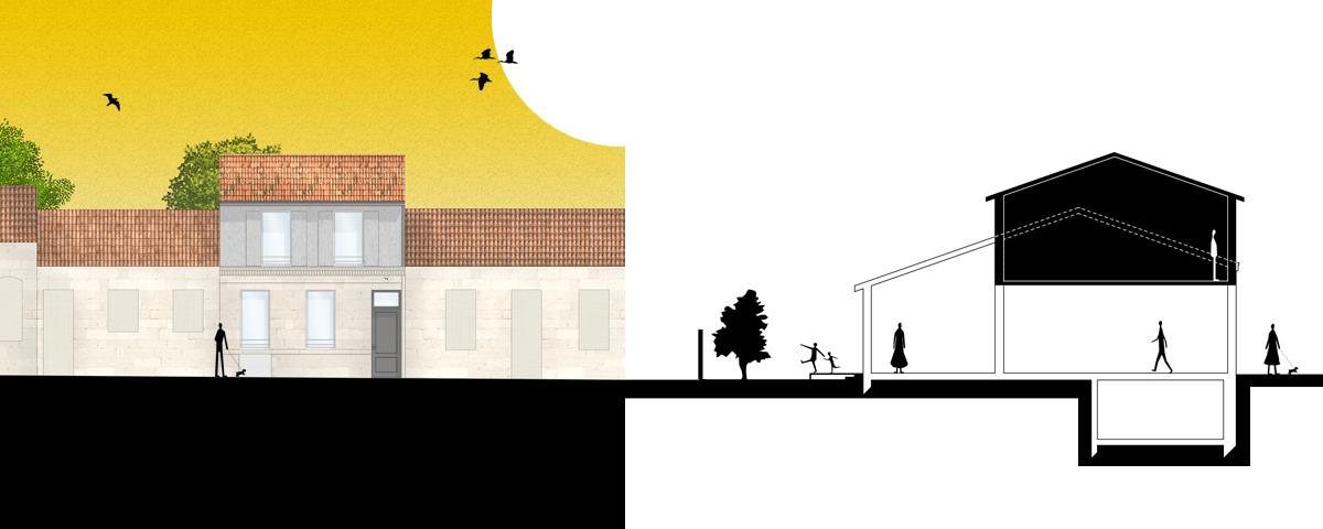 Surelevation Maison 33 sacbé architecture - architectes à bordeaux