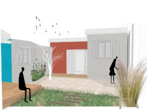 cour extérieure | Sacbé Architectes Bordeaux